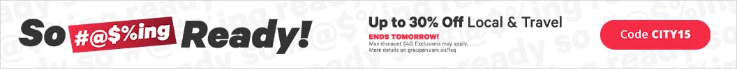 Use code CITY15 and enjoy up to an extra 30% off Local & Travel. Ends tomorrow. Some deals excluded.