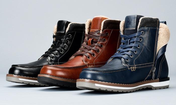 Casual Fur-Lined Moc-Toe Boots