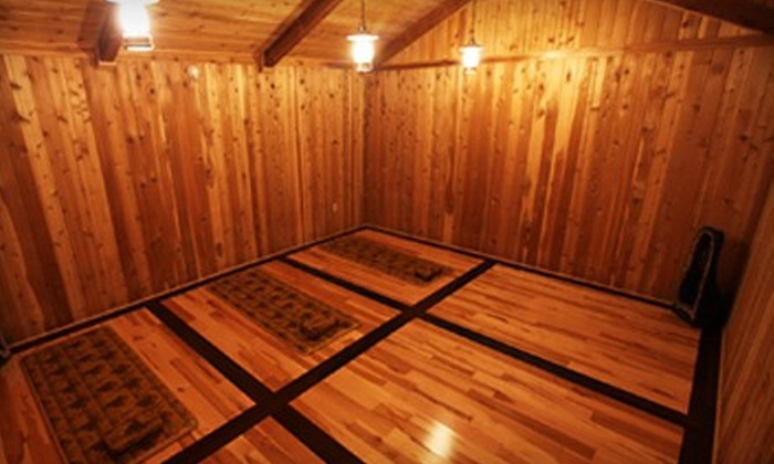 King Spa and Sauna - King Spa & Sauna: $17 for a Spa Day with Themed Therapy Rooms at King Spa and Sauna-Dallas ($30 Value)
