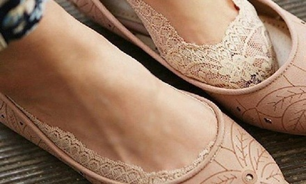 Six Pairs of Women's Lace Shoe Liners