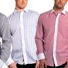 Elie Balleh Men's Slim Fit Striped Shirt