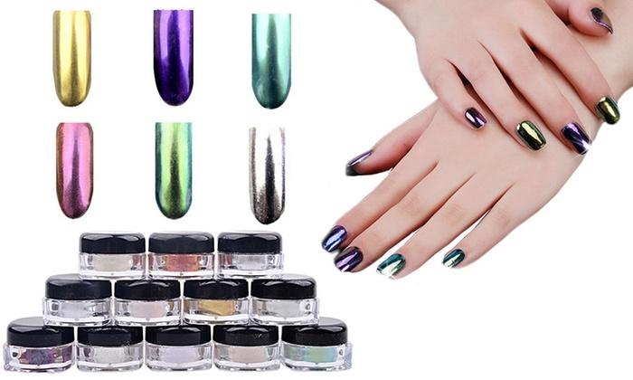 Polvere effetto specchio per unghie groupon goods - Unghie argento specchio ...