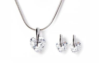 Parure cœur de la marque Victorias Candy, ornée de cristaux Swarovski®, à 7,90 € (jusqu'à 92% de réduction)