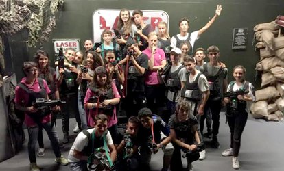 image for One or Two Games of Laser Tag for Two at Laser Kombat, Choice of Three Locations (Up to 54% Off)