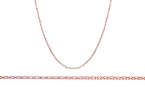 14K Rose-Gold Plated Popcorn Chain Necklace
