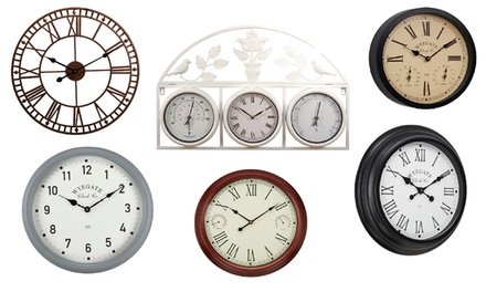 Outdoor Garden Clocks with Four Optional AA Batteries