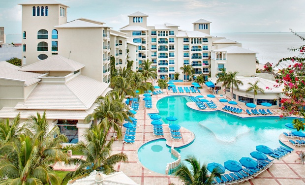 TripAlertz wants you to check out ✈ 4, 6, or 7  Night All-Inclusive Occidental Costa Cancún Stay with Airfare. Price per Person Based on Double Occupancy ✈ All-Incls. Occidental Costa Cancún Stay w/ Air from Apple Vacations - All-Inclusive Cancún Vacation