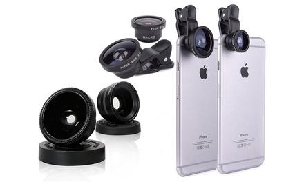 Set de 3 lentes intercambiables para smartphone por 5,99 € (65% de descuento)