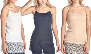 Women's Long Camisolew/ Lace Extender (3-Pk.). Plus Sizes Available.