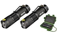 Army Gear 500-Lumen Tactical Military Flashlight Set (3-Piece)