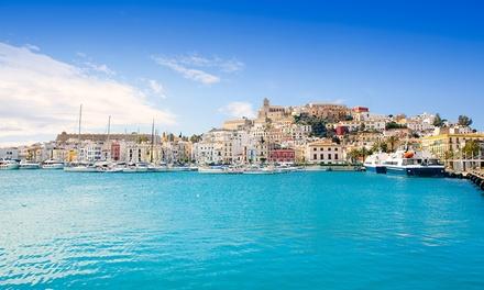 ?Ibiza y Formentera: 5 o 7 noches con vuelo de ida y vuelta, ferry entre islas y seguro de cancelación para 1 persona