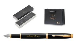 Salonparker.pl: Parker: długopis (69 zł) lub pióro wieczne z grawerunkiem (129,99 zł) i więcej opcji w Salonparker.pl