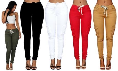 Pantalones de cuerda para mujer en diversos colores a elegir