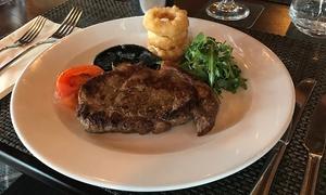 The Crannog Restaurant: Sirloin Steak with Wine for Two or Four at The Crannog Restaurant (53% Off)