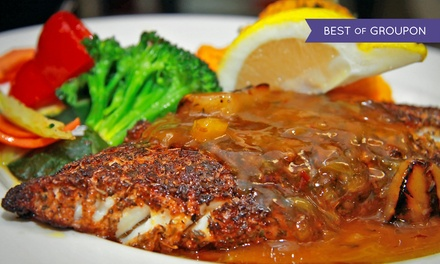 Seafood, Pub Cuisine, and Drinks for Dinner for Two or Four at Stayner's Wharf Pub & Grill (Up to 48% Off)