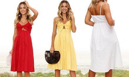 Button Front Summer Dress
