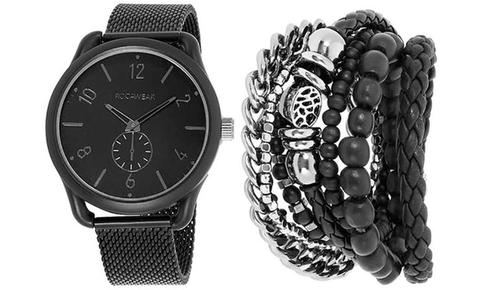 Rocawear Mens Watch With Free Bracelet Set Groupon