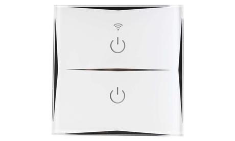 Interruptores dobles de pared con Wifi en color blanco