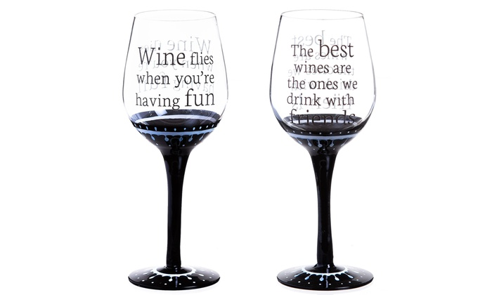 Wine Glasses For Friends 4 Pk Groupon Goods