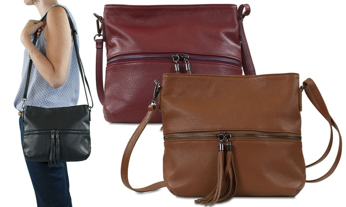 groupon sac femme en bandoulière cuir noir