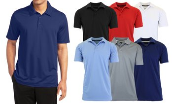 Men's Galaxy By Harvic Moisture-Wicking Tagless Polo Shirt (S–3XL)