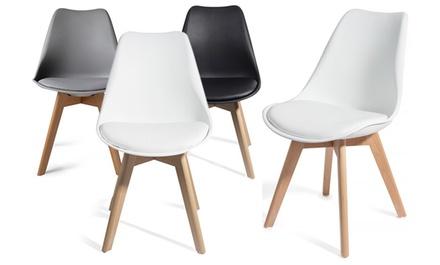 BLACK FRIDAY: Lot de chaises scandinaves TUL avec mousse dassise, coloris au choix