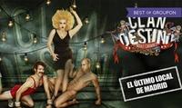 Entrada para 2 a Clandestino Adult Cabaret por 24,95 € en el Gran Teatro BANKIA Príncipe Pío