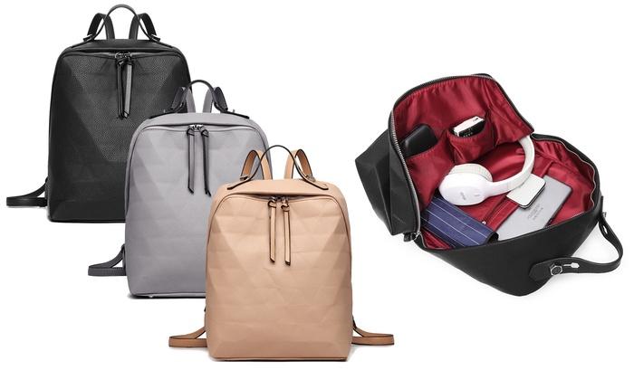 Miss Lulu Prism Pattern Backpack