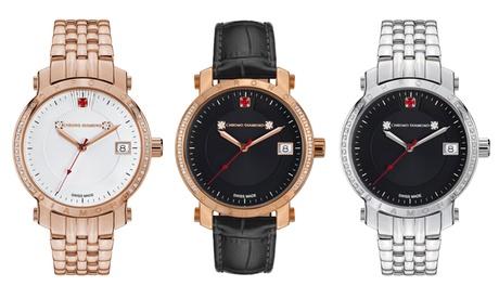 Reloj suizo con diamantes Chrono Diamond Nesta de mujer