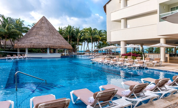 TripAlertz wants you to check out ✈ 4-Night All-Inclusive Isla Mujeres Palace Stay with Airfare. Price per Person Based on Double Occupancy.  ✈ Isla Mujeres Palace Stay with Airfare from Luxe Travel Collection