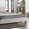 Baxton Studio Elizabeth Fabric-Upholstered Panel-Stitched Platform Bed