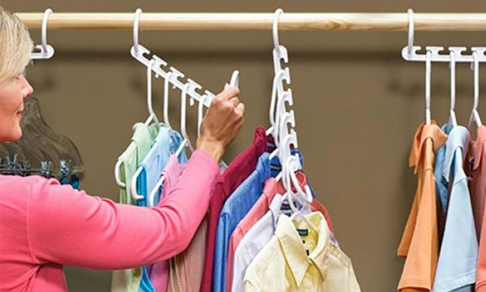 Groupon Goods Global GmbH: 8 or 16 Multiple Space-Saving Hangers ...