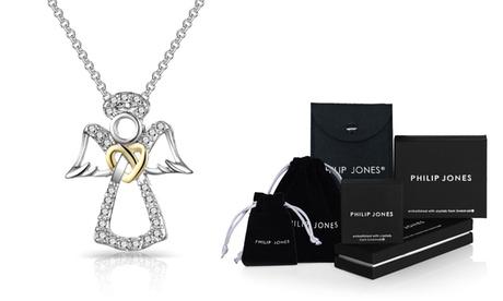 Collier Ange Gardien de la marque Philip Jones orné de cristaux Swarovski®