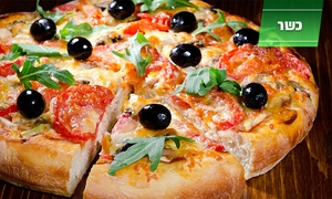 """פיצה רומא גדרה: פיצה רומא, סניף גדרה: פיצה L לבחירה מתוך הפיצות המומלצות ב-30 ₪ בלבד. שעות פעילות נוחות כולל במוצ""""ש"""