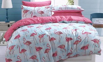 Flamingo Stripe Duvet Set