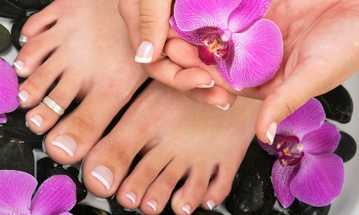 Wrap-It Nails & Hair Salon - Kenvil: One or Two Mani-Pedis with Paraffin or One Wrap Set, Mani, and Pedi at Wrap-It Nails & Hair Salon (Up to 62% Off)