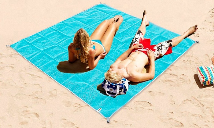 One, Two, or Three No Sand Jumbo Beach Mats from £9