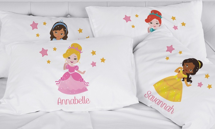 Personalized Girl's Pillowcases with Custom Character: Personalized Girl's Pillowcases with Custom Character From Monogram Online