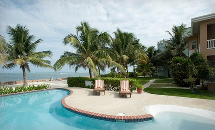 groupon daily deal - 3-, 5-, or 7-Night Stay for Two in a One-Bedroom Beachfront Suite with Breakfast at Luna Suites in Belize