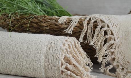 1 o 2 set da 2 asciugamani Salento in cotone, da Cieffepi Home Collections, disponibile in vari colori
