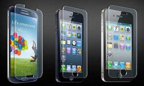Vetro temperato per iPhone e smartphone Samsung, Sony e Huawei