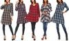 Women's Cotton Plaid Tunic. Plus Sizes Available.