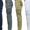 Galaxy by Harvic Men's 100% Cotton Cargo Utility Pants with Belt