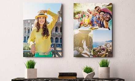 Custom 12x8, 16x12, 36x24, 40x30, or 48x36 Canvas Prints with Option to Add Text or Collage (Up to 87% Off)