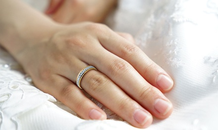 Alianzas de boda en oro bicolor de 18 ct.