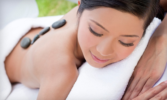 SparknShine - Skyrattler: Hot-Stone Massage with Foot Detox or Indian Head Massage at SparknShine (Up to 54% Off)