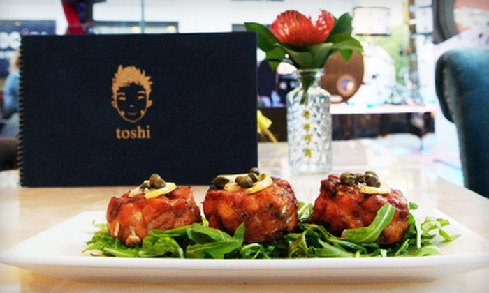 Toshi's Living Room & Penthouse - Midtown South Central: Dinner with Mimosas for Two or Four at Toshi's Living Room & Penthouse (Up to 53% Off)