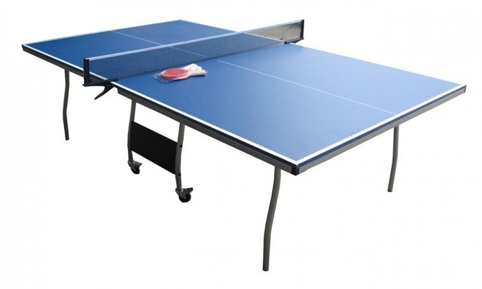 table ping pong pliable groupon shopping. Black Bedroom Furniture Sets. Home Design Ideas