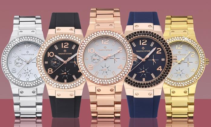 Uno o 2 orologi Timothy Stone Facon donna con cristalli Swarovski® con spedizione gratuita da 29,90 €