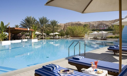 Al Ain: Eid Stay for 2 Adults and 2 Kids with Breakfast and All Inclusive Options at 4* Mercure Grand Jebel Hafeet Hotel